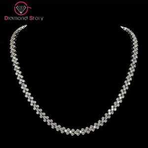 LUOTEEMI Brand Hot Selling Luxury Bridal Jewelry Classic 3Rows 2.75mm CZ Necklace - Beltran's Enterprise