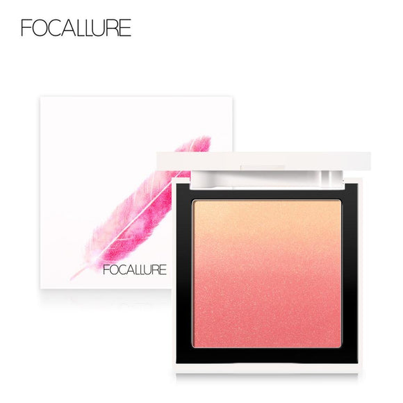 FOCALLURE 4 Colors Makeup Face blush Silky Cream Transparent Powder - Beltran's Enterprise