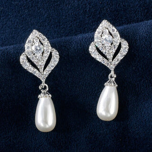Bague Ringen Pearl Earrings for Women Long Silver 925 Jewelry - Beltran's Enterprise
