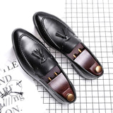 Italian Oxford Shoes For Men Designer Formal Mens Dress Shoes Leather Black Luxury - Beltran's Enterprise