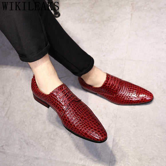 Fashion Crocodile Shoes Oxford Shoes For Men Designer Shoes Men Italian Sapatos - Beltran's Enterprise