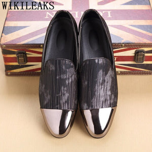 Luxury Men Shoes Formal Fashion Men Shoes Wedding Loafers Men Elegant Shoes - Beltran's Enterprise