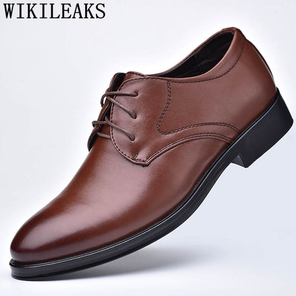 Mens Italian Shoes Oxford Men Leather Dress Shoes Designer Shoes - Beltran's Enterprise