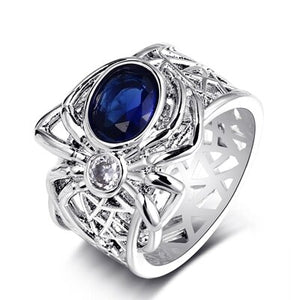 Bague Ringen Top Brand Spider Silver 925  jewelry  Sapphire - Beltran's Enterprise