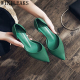 Pointed Heels Fashion Low Heel Shoes Elegant Shoes For Woman - Beltran's Enterprise