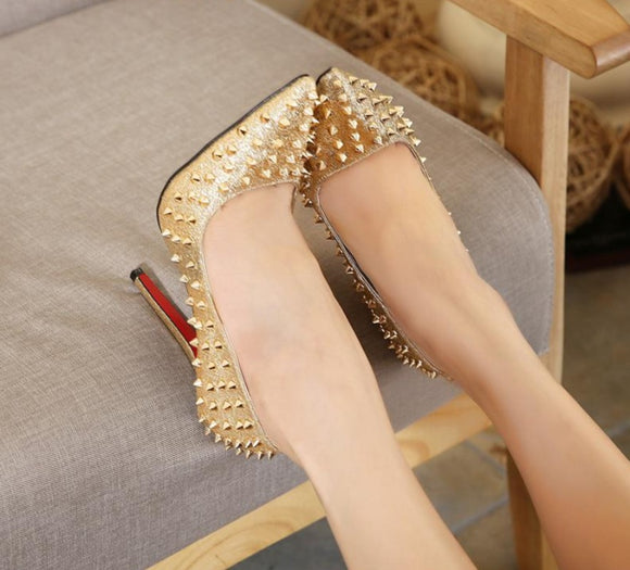 Designer Brand Women Shoes High Heel Wedding Shoes Bridal Stiletto Silver Gold High Heels - Beltran's Enterprise