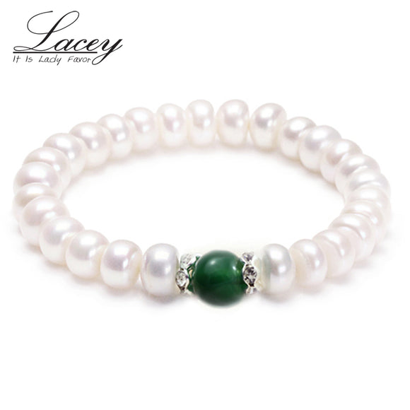 Real natural pearl bracelets women,white cultured freshwater pearl bracelet 925 silver jewelry - Beltran's Enterprise