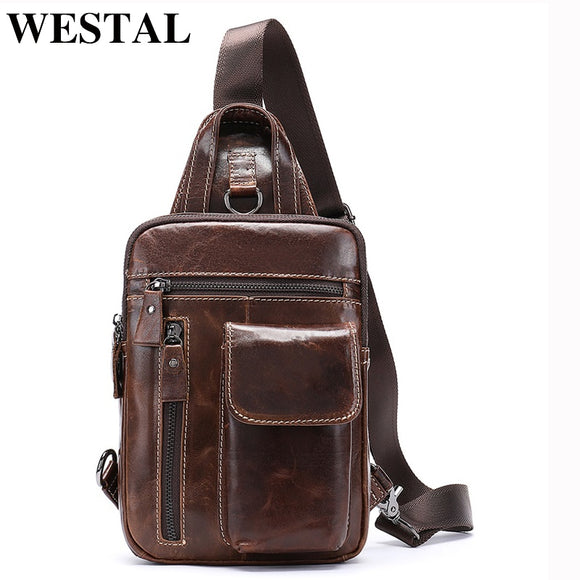 WESTAL Men Shoulder Messenger Bags Men's Bag Genuine Leather - Beltran's Enterprise