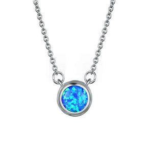 Bague Ringen Simple Style Round Opal Necklace for Women - Beltran's Enterprise