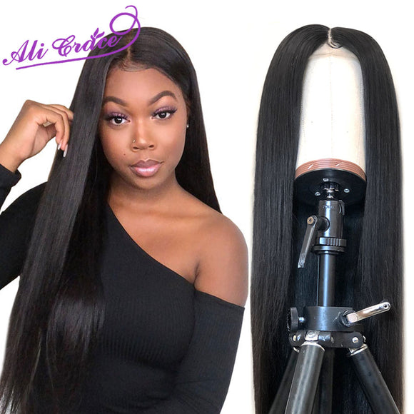 Ali Grace Peruvian Straight Lace Front Wig 360 Lace Frontal Human Hair Wig with Baby Hair Remy 13x6 - Beltran's Enterprise
