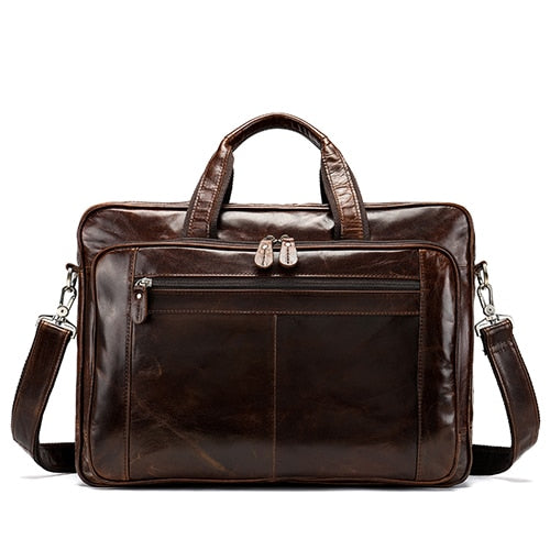 WESTAL men's bag/briefcase leather laptop bag for men's genuine leather - Beltran's Enterprise