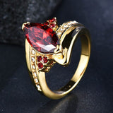 Bague Silver 925 Ring Golden Color With Purple - Beltran's Enterprise