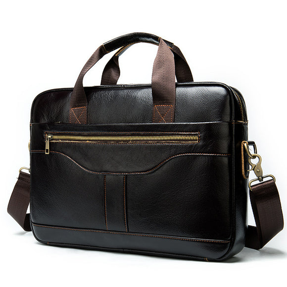 WESTAL messenger bag men briefcase/men's genuine leather laptop bags - Beltran's Enterprise