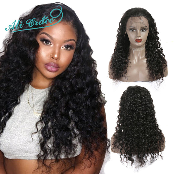 Ali Grace Brazilian Water Wave Lace Front Wigs Pre-Plucked Natural Hairline With Baby Hair 100% - Beltran's Enterprise
