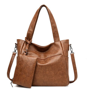 Women's Soft Leather Handbag High Quality Women Shoulder Bag Shopper Tote Bucket Bag Fashion - Beltran's Enterprise