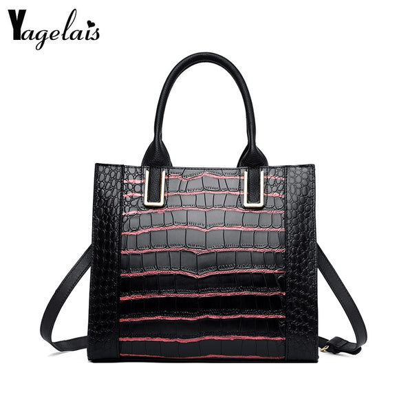 Genuine Leather Handbags Big Women Bag High Quality Casual Female Bags Trunk Tote Famous Brand - Beltran's Enterprise