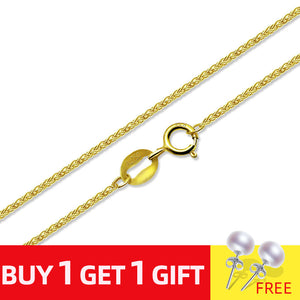 NYMPH Genuine Guarantee 18K Gold Chain Fine Jewelry Real au750 Necklace Wedding Banquet Gift - Beltran's Enterprise