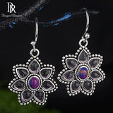 Bague Ringen Elegant Amethyst Earrings for Women Vintage - Beltran's Enterprise