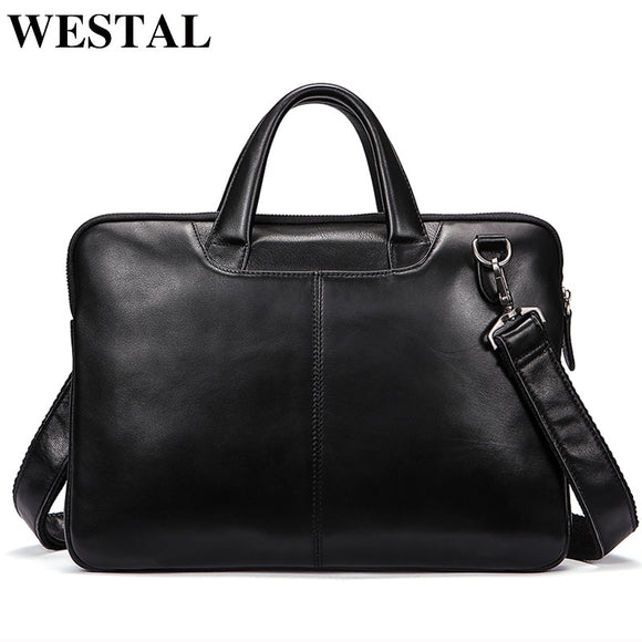 WESTAL men's bag genuine leather messenger bag men leather - Beltran's Enterprise