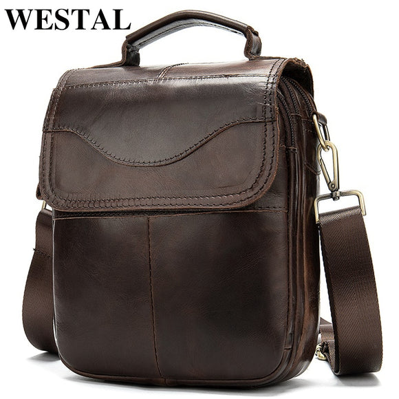 WESTAL shoulder bag for men Bag Men's Genuine Leather messenger - Beltran's Enterprise