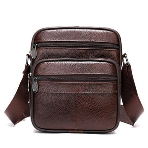 WESTAL men's shoulder bag small male messenger bags men's genuine leather bag men flap crossbody - Beltran's Enterprise