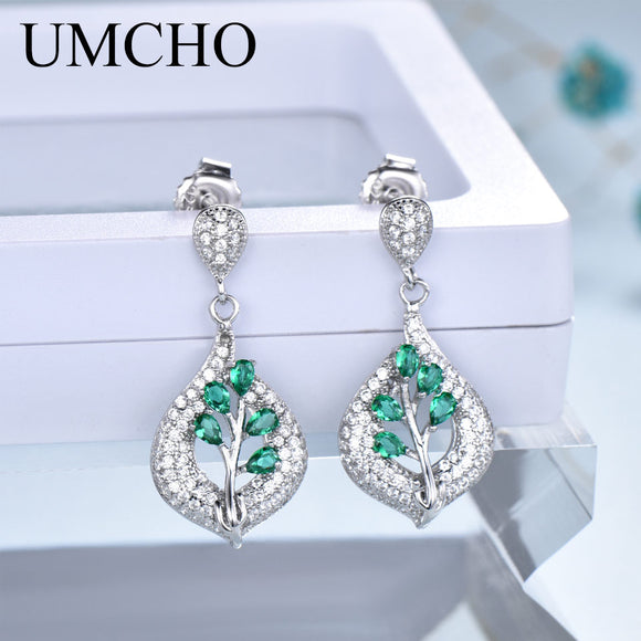 UMCHO 925 Sterling Silver Clip Earrings For Women Nano Gemstone Wedding Engagement Fine Jewelry - Beltran's Enterprise