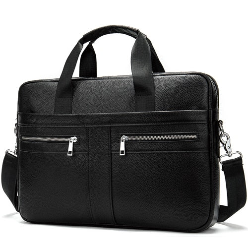 WESTAL Bag men's Genuine Leather briefcase Male man laptop bag - Beltran's Enterprise