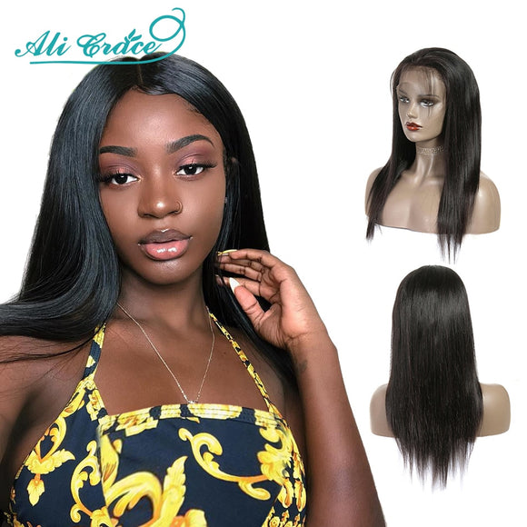 Ali Grace Malaysian Straight Human Hair Wigs 250 Density Lace Front Wigs With Baby Hair 100% Remy - Beltran's Enterprise