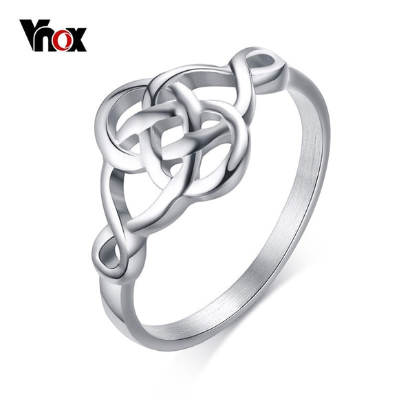 Vnox Ouroboros Rings for Women Vintage Hollow Stainless Steel - Beltran's Enterprise