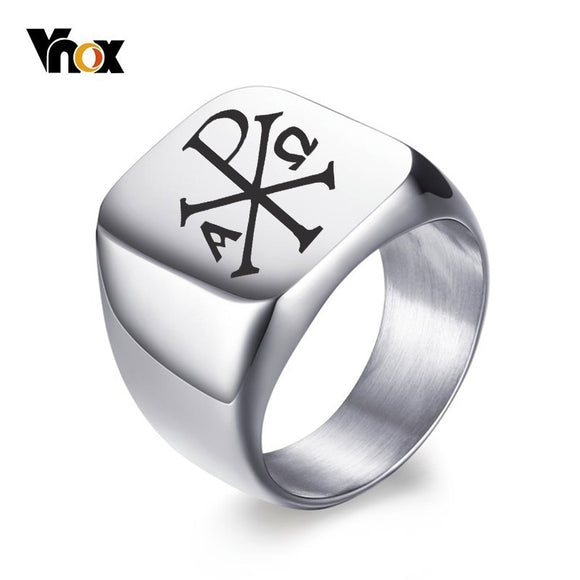 Vnox Free Personalized Stamp Ring For Men 18mm Stainless Steel - Beltran's Enterprise