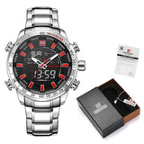 NAVIFORCE Men Watches Top Brand Luxury Fashion Analog Digital Dual Display Watch Mens - Beltran's Enterprise