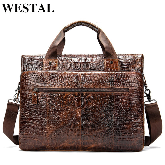 WESTAL Men's Leather Handbags Bag for Men Genuine Leather - Beltran's Enterprise