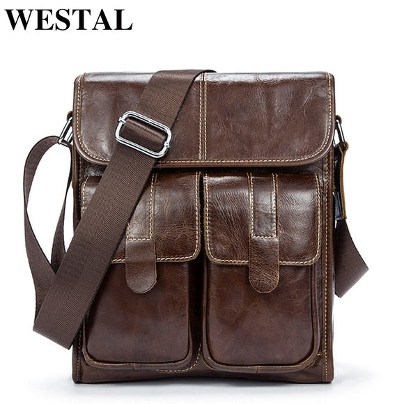 WESTAL Genuine Leather Men's Shoulder Bags for Men Luxury - Beltran's Enterprise