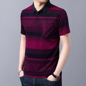2020 New Summer Brands Striped Men Polo Shirt Short Sleeve - Beltran's Enterprise