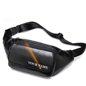 WESTAL Sheep Genuine Leather Men's Waist Bags Belt Men Waist Pack Male Fanny Pack Black Small - Beltran's Enterprise