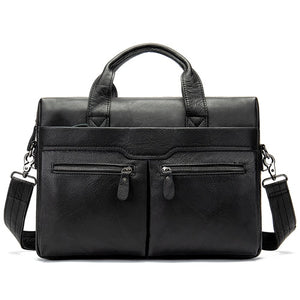 WESTAL Men Briefcases Men's Leather Bags Man Genuine Leather Laptop Bags Messenger Bag - Beltran's Enterprise