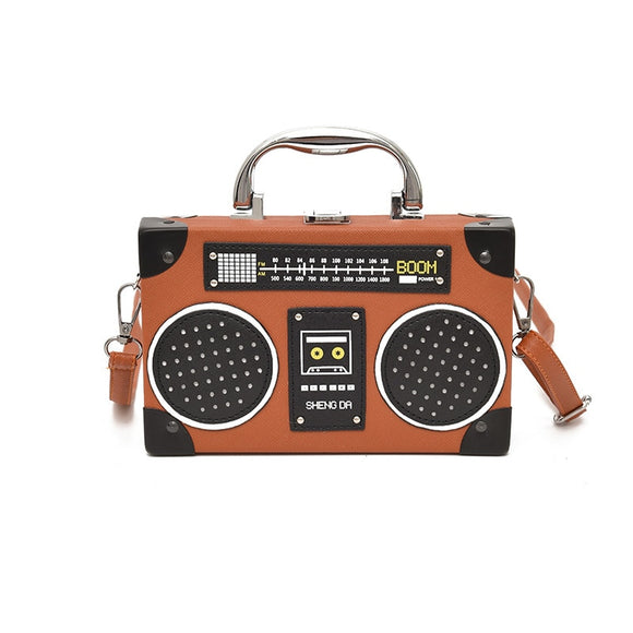 New Radio Box Women Shoulder Bag Retro Designer Vintage Female - Beltran's Enterprise
