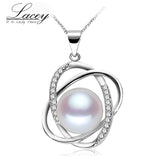 Lacey freshwater pearl pendant jewelry women 925 silver,real natural pearl jewelry necklace - Beltran's Enterprise