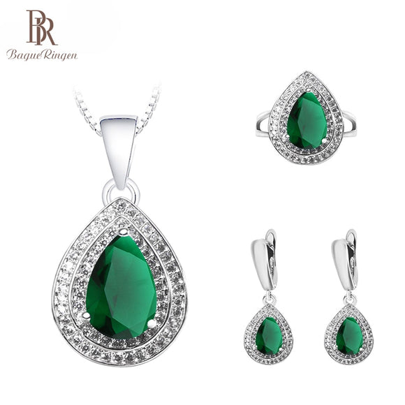 Bague Ringen Charms Sterling Silver925 Jewelry Set for Women - Beltran's Enterprise
