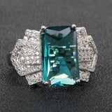 Bague Silver 925 Jewelry Aquamarine Charms Ring for Women - Beltran's Enterprise