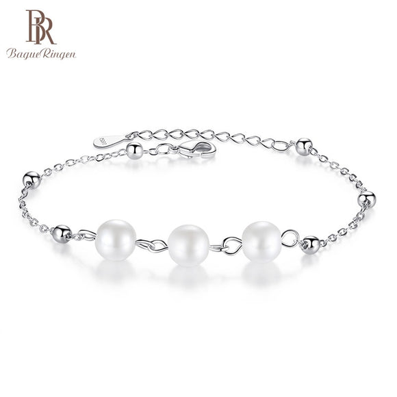 Bague Ringen Pearl Bracelet for Women Simple Design Silver 925 - Beltran's Enterprise