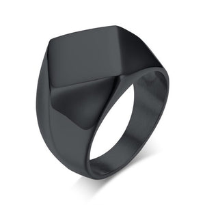 Vnox Oxidized Chunky Ring for Men Vintage Retro Stainless Steel - Beltran's Enterprise