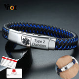 Vnox Free Engraving Personalized Medical Bracelets for Men Stylish - Beltran's Enterprise