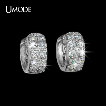 UMODE Round Loop with High Quality Tiny AAA+ CZ small Hoop Earrings For Women Hot Jewelry Wholesale Pendientes Mujer Moda UE0016 - Beltran's Enterprise