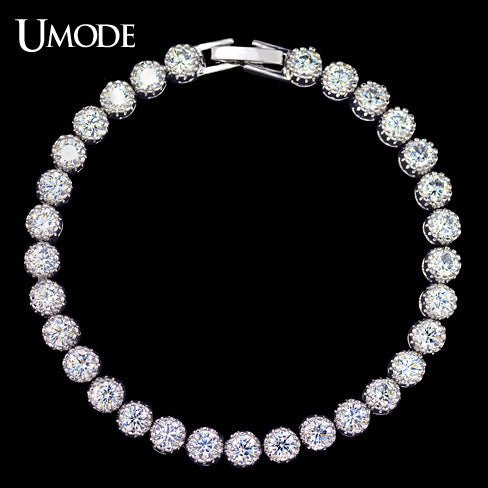UMODE Women's Tennis Bracelet with 31pcs 0.25 carat Top Quality AAA+ Cubic Zircon New Fashion Bracelets & Bangles UB0030 - Beltran's Enterprise