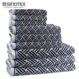 3 PCS/Lot 100% Cotton Yarn Dyed Striped Handkerchief, Face Cloth+Towel - Beltran's Enterprise