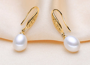 Wedding freshwater pearl earring jewelry for women,genuine natural pearl earring fine jewelry - Beltran's Enterprise