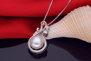 LACEY freshwater pearl pendant 925 silver for women,real natural pearl pendant fine jewelry - Beltran's Enterprise