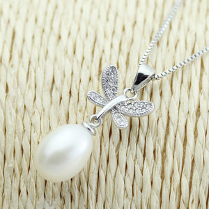 Pearl pendant jewelry,natural freshwater pearl pendant silver 925 chain,mother pearl - Beltran's Enterprise