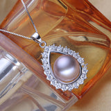 Pearl pendant jewelry,white natural freshwater pearl pendant necklace - Beltran's Enterprise